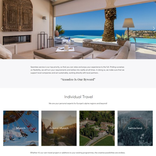 Villa design with the title 'Web Redesign For An European Travel Agency'