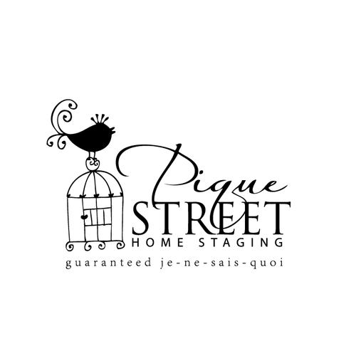 Home decor logo with the title 'cute royal bird on a cage'