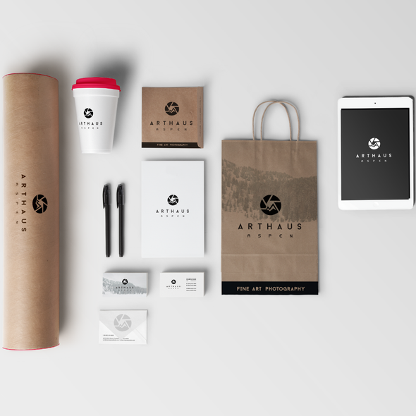 Gallery brand with the title 'Brand Identity for Arthaus Aspen'