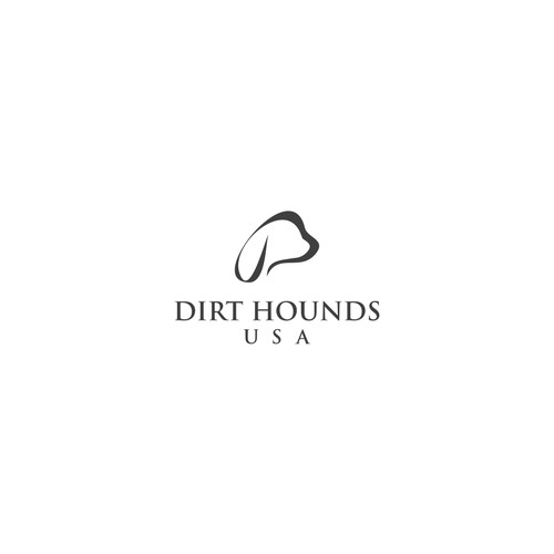 Hound design with the title 'Logo for dirt hounds'
