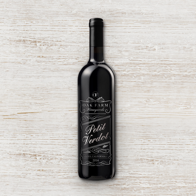 Petit Verdot wine label
