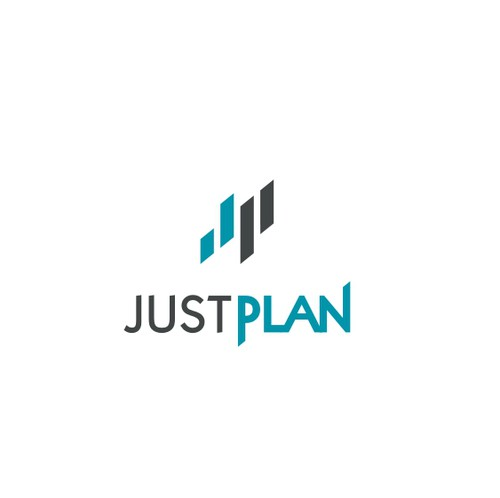 Event planning logo with the title 'Logo for JustPlan - Technology Financial Planning Company'