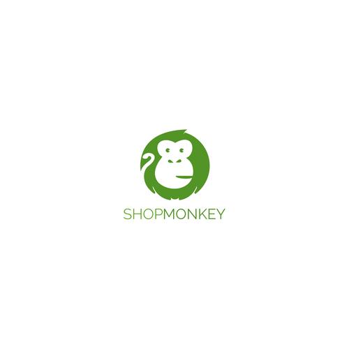 Hosting design with the title 'ShopMonkey Logo Entry'