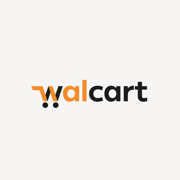 Trolley logo with the title 'Walcart Logo'