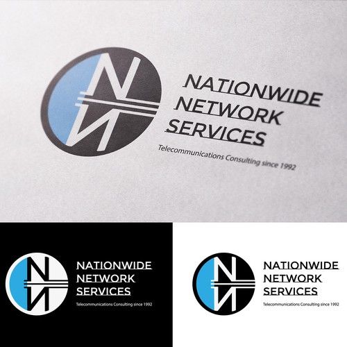 Telecommunications logo with the title 'Logo for a Consulting Telecommunications Company'