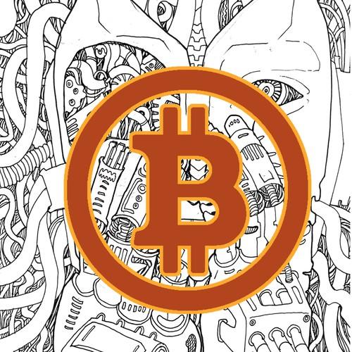 Bitcoin artwork with the title 'Bitcoin Art'