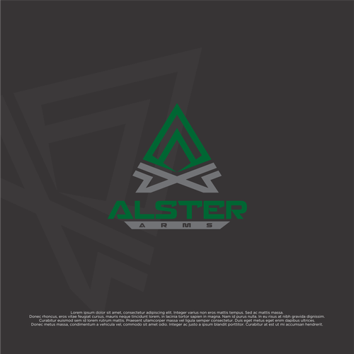 Armory logo with the title 'Concept Logo for AlsterArsm'