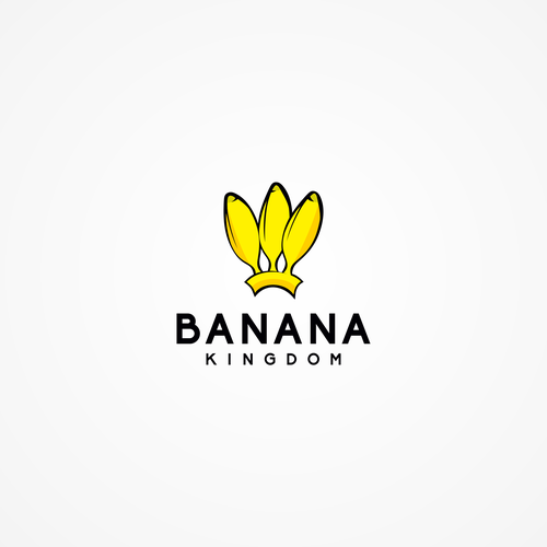Banana logo with the title 'Boys and Girls Casual Clothing logo'