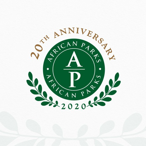 Attraction logo with the title 'African Parks 2020 Anniversary'