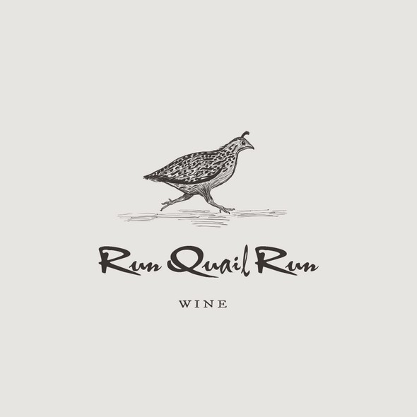 Quail logo with the title 'Logo design for a small vineyard'