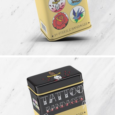TATTOO Bandages Tin Box Design