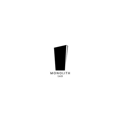 Dark logo with the title 'Iconic Monolith logo'