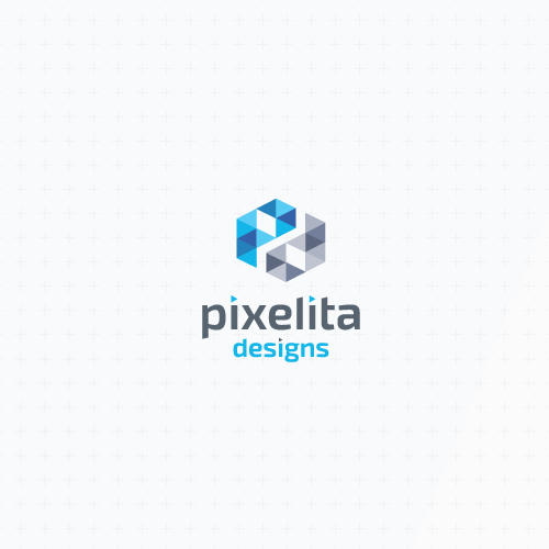Simple modern logo with the title 'Logo redesign'