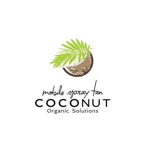 Coconut design with the title 'coconut logo design'