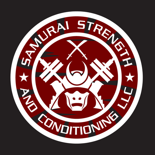 Weights logo with the title 'Samurai Strength Logo'