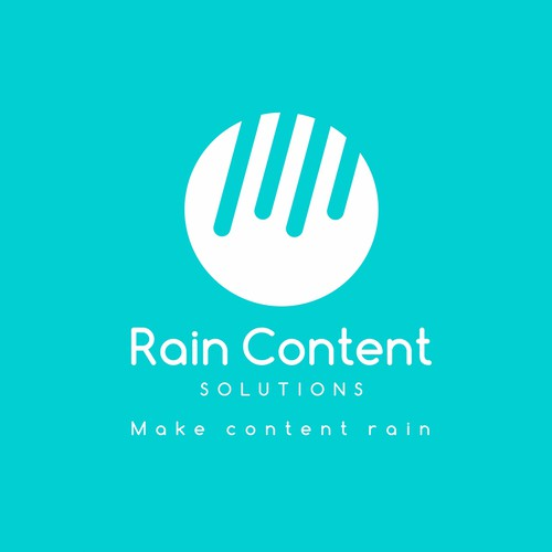 Turquoise logo with the title 'Rain Content Solutions'
