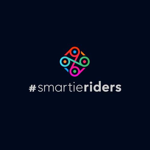 NGO logo with the title '«Smartieriders» Cycling Team Logo'