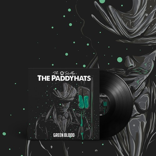 """Pop culture design with the title 'The O'Reillys ~ The Paddyhats """"Green Blood""""'"""