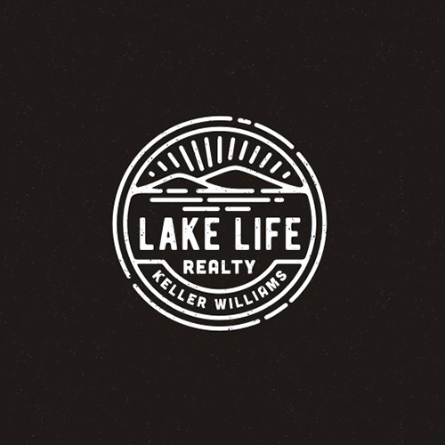 Lake design with the title 'Lake and Hill Logo'