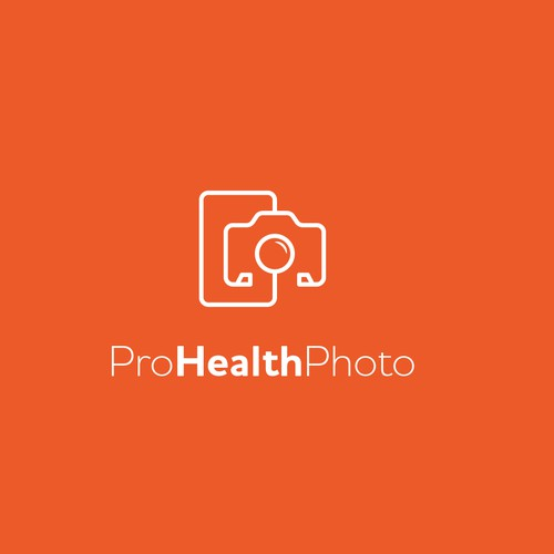 Stethoscope design with the title 'logo concept for a medical photo and video professionals'
