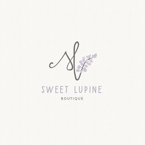 Handwritten logo with the title 'Boutique logo'