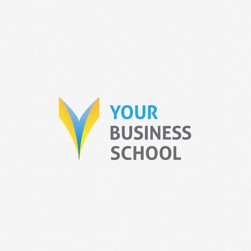 Knowledge logo with the title 'Logotype for online business school.'