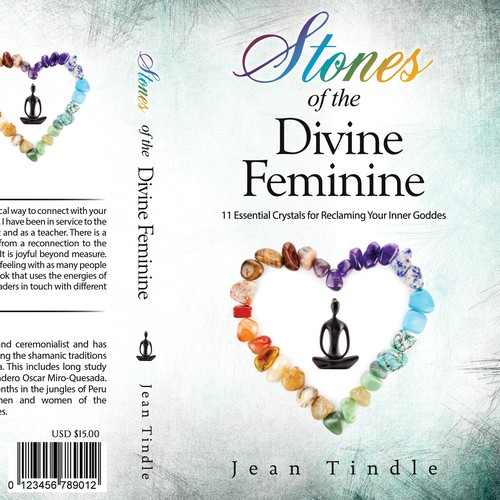 Healing design with the title 'Stones of the Divine Feminine'