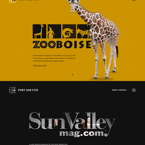 Software website with the title 'Creative design for Software Company'