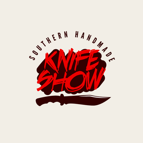 Striking logo with the title 'Logo concept for a handmade knife show'