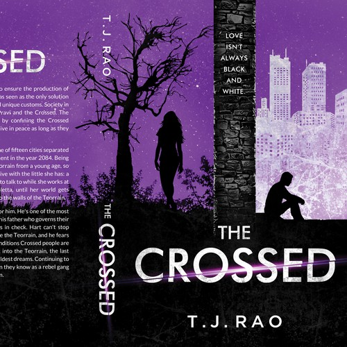 Suspense book cover with the title 'The Crossed by T.J. Rao'