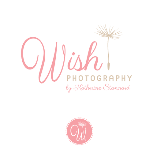 Delicate logo with the title 'Create a stylish logo for Wish Photography by Katherine Stannard'