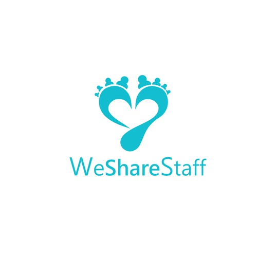 Staff logo with the title 'Bold logo for A staff sharing website for hospitality. For employers as well as employees.'