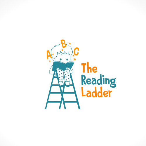 Literacy logo with the title 'The reading ladder logo concept'