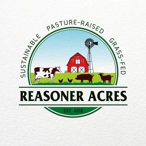 Family farm logo with the title 'Logo for Farms'