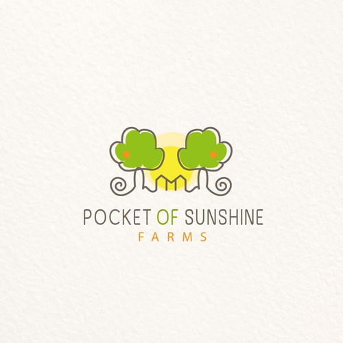 Sunshine design with the title 'Pocket of sunshine logo design'