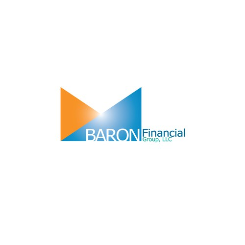 Wealth management logo with the title 'concept logo for BARON FINANCIAL GROUP LLC'