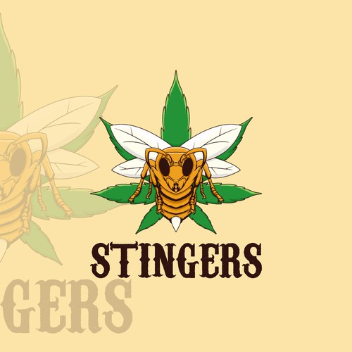 Lotion logo with the title 'Stingers Cannabis Lotion'