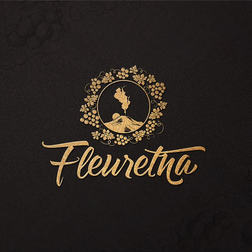 Wine design with the title 'Logo'