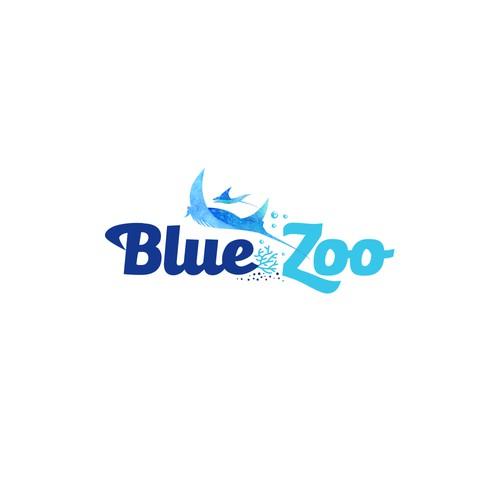 Aquarium logo with the title 'Logotype'