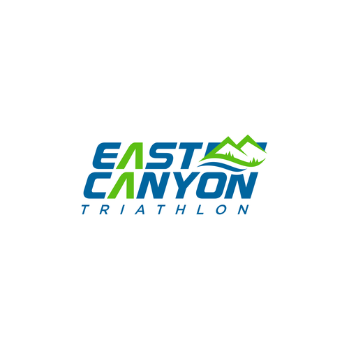 Triathlon design with the title 'Update logo for East Canyon Triathlon'