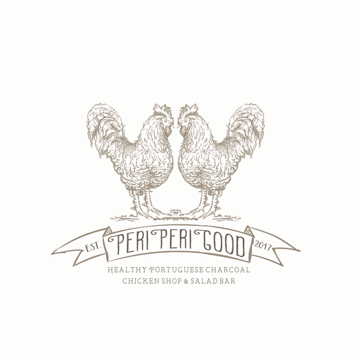 Warm design with the title 'chicken shop logo'