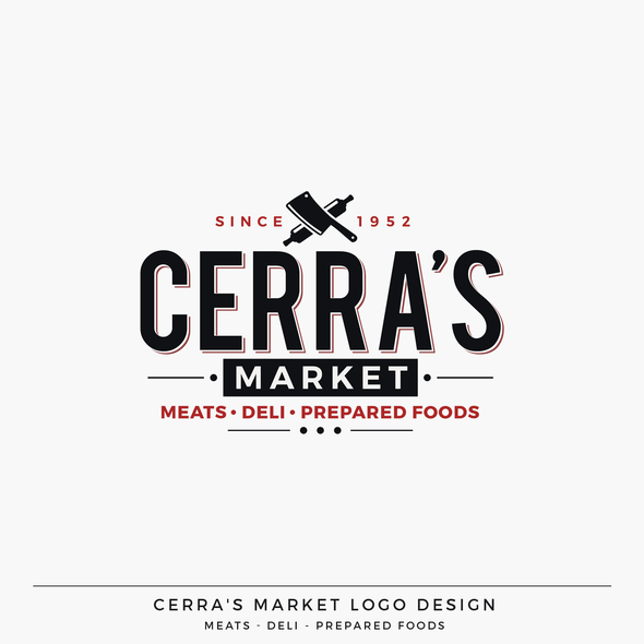 Italian cuisine logo with the title 'Cerra's Italian Market Logo Design'