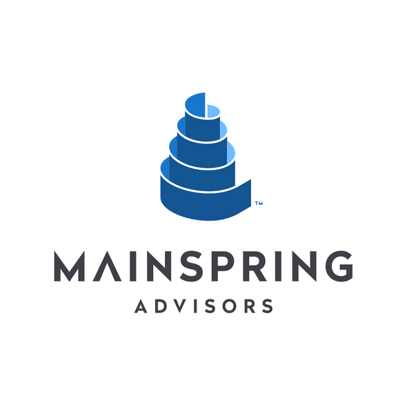 Spring design with the title 'mainspring logo'