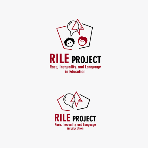 Maroon logo with the title 'RILE project logo'