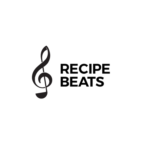 Combination logo with the title 'Recipe Beats logo'