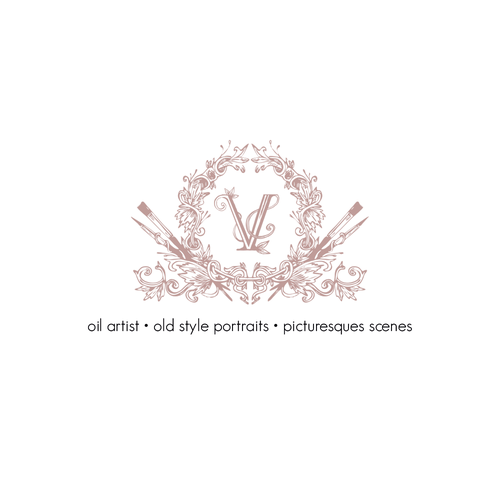 "Painter design with the title 'Victorian logo for a painter ""V""'"