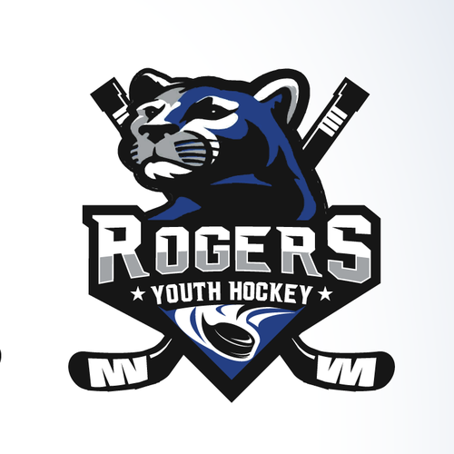 Youth group logo with the title 'Rogers Youth Hockey'