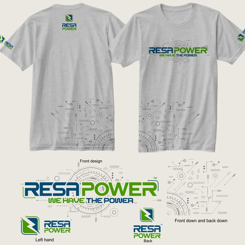Powerful t-shirt with the title 'Resa Power'