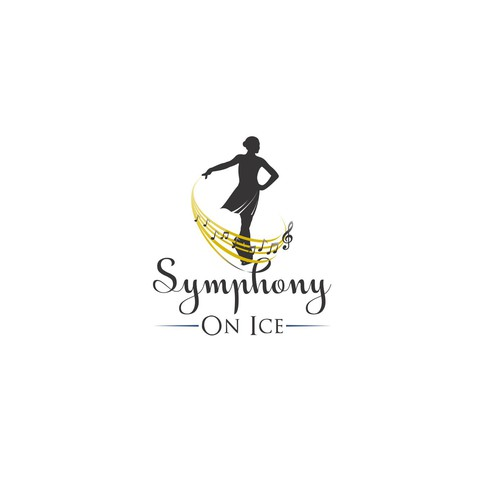 Skating design with the title 'Symphony On Ice Logo Design'