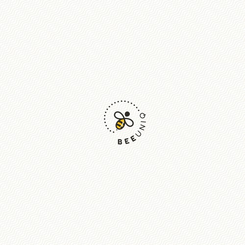 Spiral logo with the title 'Bee Concept Logo for Apparel Company'
